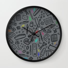 Stationery Lover Wall Clock
