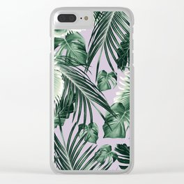 Tropical Jungle Leaves Dream #8 #tropical #decor #art #society6 Clear iPhone Case