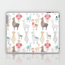 Watercolor Llamas Pattern Laptop & iPad Skin