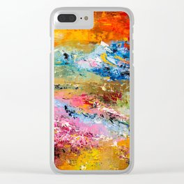 LAVENDER MEADOWS AT SUNSET Clear iPhone Case