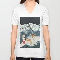 starry night V-neck T-shirts featuring Starry Night by Sarah Eisenlohr