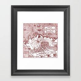 Map of Bohemia (red) Framed Art Print