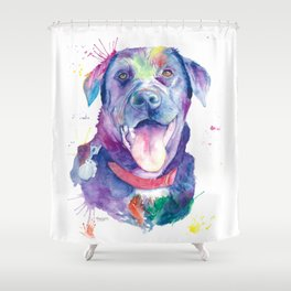 Black Lab Love Shower Curtain