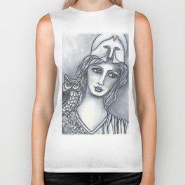 Goddess of Wisdom Biker Tank