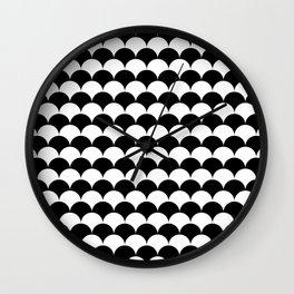 Modern Mermaid Scales Wall Clock