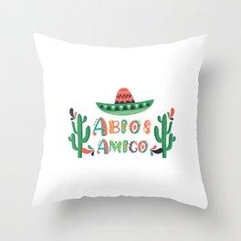 Abios Amigo Mexican Graduation Day Gift Throw Pillow
