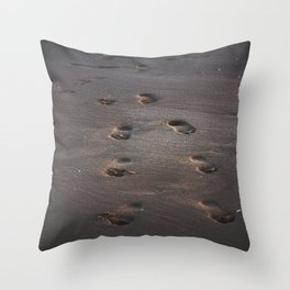 Burn In the Sand Throw Pillow