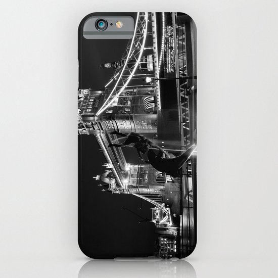 Tower Bridge And the Girl and dolphin Statue iPhone & iPod Case