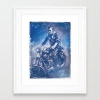 steve mcqueen Framed Art Prints featuring McQueen by Scott Dickson