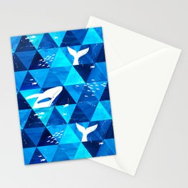 Blue Whale Jumping Stationery Cards