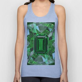 EMERALD GREEN MAY BIRTHSTONES ART Unisex Tank Top