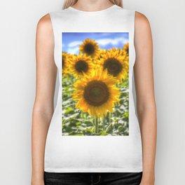 Sunflowers Summer Days Biker Tank
