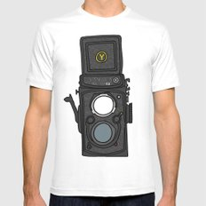Yashica White Mens Fitted Tee MEDIUM