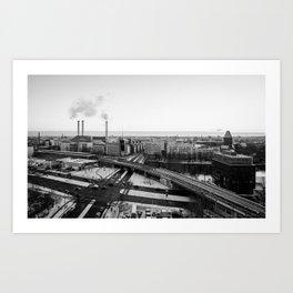 Berlin during winter Art Print