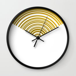 Yelow tech circles Wall Clock