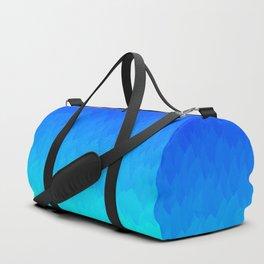 Electric Blue Ombre flames / Light Blue to Dark Blue Duffle Bag