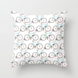 speed bike Throw Pillow