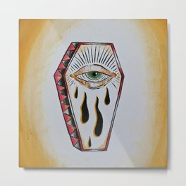 All Seeing Crying Coffin Eye Metal Print
