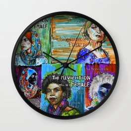 The Revolution Will be Female - 4 Wall Clock