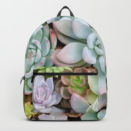 Pastel Succulent Garden Backpack