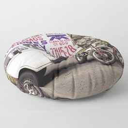 Motorcycles and Beauty Puebla Mexico Floor Pillow