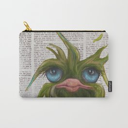 Green on Newsprint Carry-All Pouch