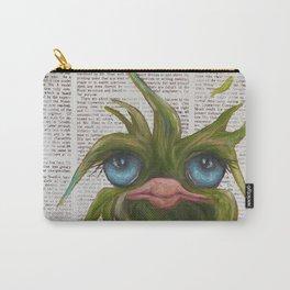 Green on Newsprint Carry-All Pouch