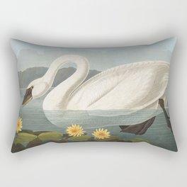 Common American Swan by John James Audubon Rectangular Pillow
