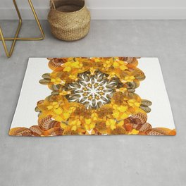 Abstract Floral Patterns 2 Rug