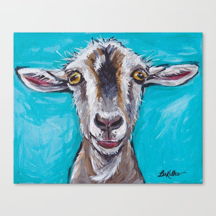 Goat Art Colorful Farm Animal Canvas Print
