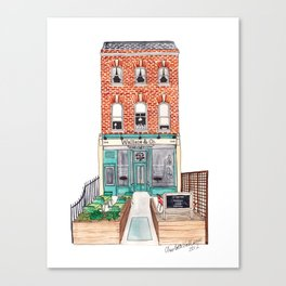 London: Wallace & Co. by Charlotte Vallance Canvas Print
