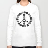 peace Long Sleeve T-shirts featuring Peace by Elisabeth Fredriksson