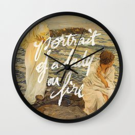 portrait of a lady on fire sunset Wall Clock