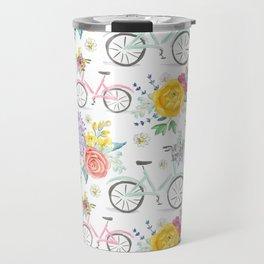 Bike and bouquets pattern Travel Mug