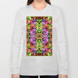 Abstract Roses - Lilac Long Sleeve T-shirt