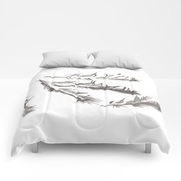 Crow Feather Study Comforters
