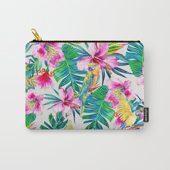 Parrot Beach Carry-All Pouch