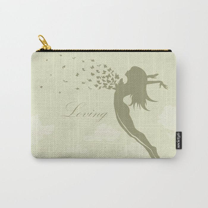 girl with butterflies in a jump Carry-All Pouch