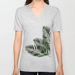 Tropical Exotic Palm Leaves I Unisex V-Neck