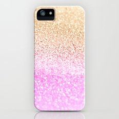GOLD PINK GLITTER by Monika Strigel Slim Case iPhone (5, 5s)