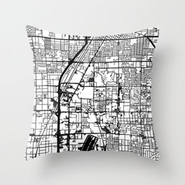 Las Vegas city map Throw Pillow