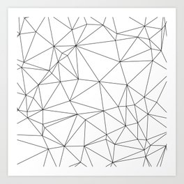 Black and White Geometric Minimalist Pattern Art Print