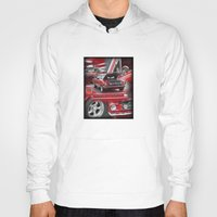 mustang Hoodies featuring 1966 Mustang  by Andrew Sliwinski