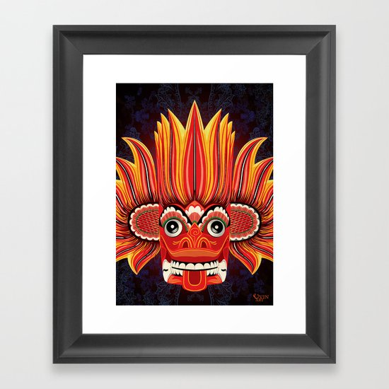 Sri Lankan Fire Demon Framed Art Print