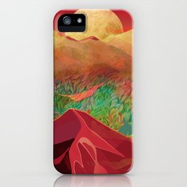 """""""Tropical golden sunset over fantasy pink forest"""" iPhone Case"""