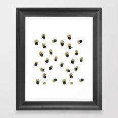blots abstract minimal pattern Framed Art Print