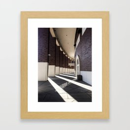 Stadium Shadows Framed Art Print