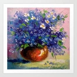 a bouquet of wildflowers Art Print