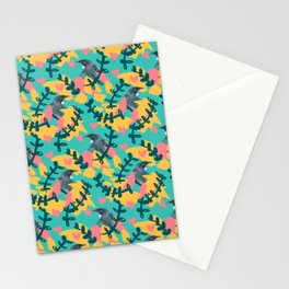 Blocky Tui Heart Print Stationery Cards