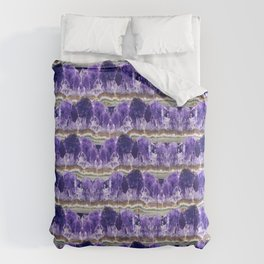 Purple Amethyst Geode Mountains Comforters